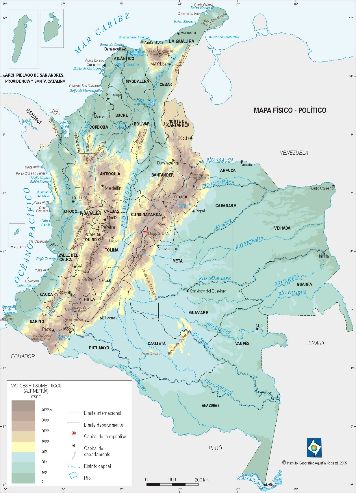 geografia general de colombia: