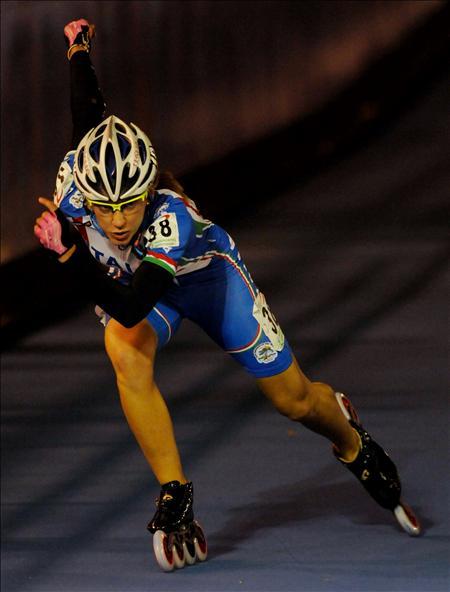 Erika Sanetti quien obtuvo la plata en competencia de 300 metros