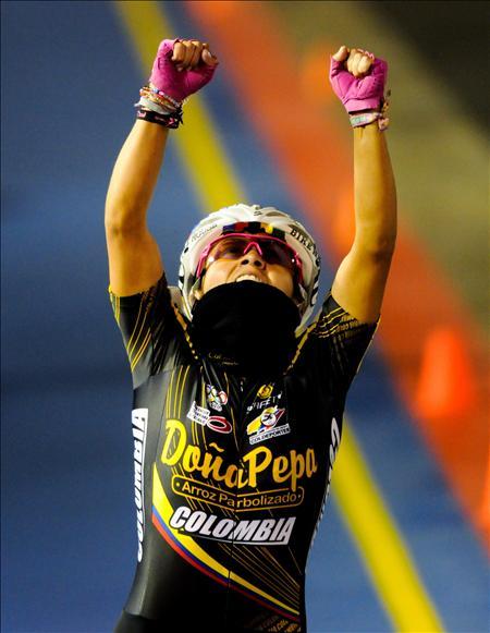 Brigite M�ndez gnadora del oro en los 1.000 metros